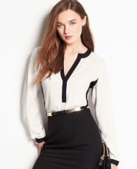 Colorblocked blouse at Ann Taylor