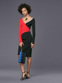 Colorblocked dress by Diane von Furstenberg at DvF