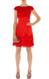 Colored Lace Dress in Red at Karen Millen