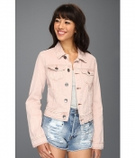 Colored denim jacket by Free People at 6pm
