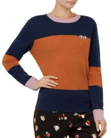 Colour by Numbers Bryonny Color-Blocked Cashmere Sweater at Bloomingdales