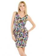 Comic print peplum dress by Betsey Johnson at Macys