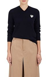 Comme Des Garcons PLAY Wool V-Neck Sweater at Barneys