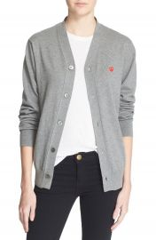 Comme des Gar  ons PLAY Cotton Cardigan at Nordstrom