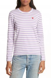 Comme des Gar  ons PLAY Stripe Tee at Nordstrom