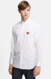 Comme des Garand231ons and39Playand39 Woven Shirt at Nordstrom