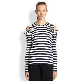Comme des Garcons Comme des Garcons - Striped Open-Shoulder Top at Saks Fifth Avenue