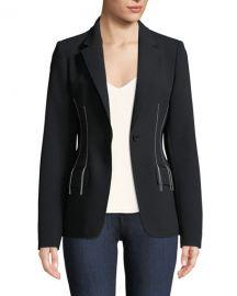 Compact Crepe Blazer Jacket at Bergdorf Goodman