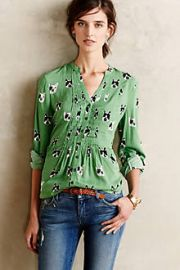 Composed Pintuck Buttondown at Anthropologie