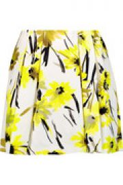 Connor pleated printed cotton and silk-blend mini skirt at The Outnet