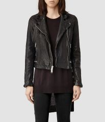 Conroy Leather Biker Jacket at All Saints