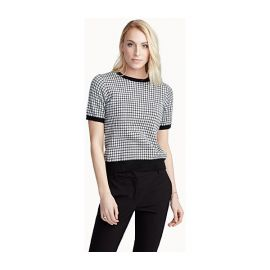 Contemporaine Organic cotton gingham sweater at Simons