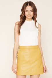 Contemporary Faux Leather Skirt   LOVE21 - 2000221987 at Forever 21