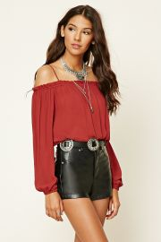 Contemporary Open-Shoulder Top   LOVE21 - 2000219670 at Forever 21