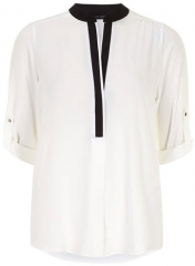 Contrast Placket Shirt at Dorothy Perkins