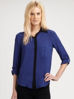 Contrast collar shirt by Splendid at Saks at Saks Fifth Avenue