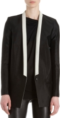 Contrast lapel jacket by Helmut Lang at Barneys