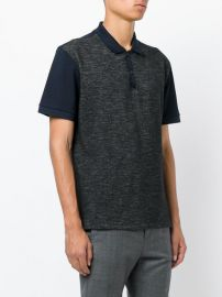 Contrast-panel cotton-piqu   polo shirt at Matches