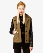 Contrast sleeve jacket like Spencers at Forever 21