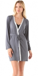 Contrast trim robe by Calvin Klein at Shopbop
