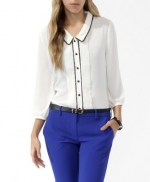 Contrast trim shirt from Forever 21 at Forever 21