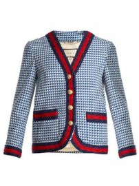 Contrast-trim wool-blend tweed jacket at Matches