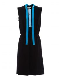 Contrasting Placket Dress by Gucci at ikrix