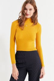 Cooperative Cooperative Cindy Ribbed Mock-Neck Sweater at Urban Outfitters