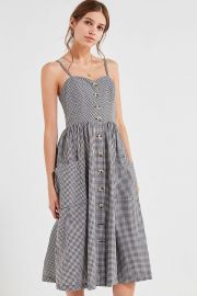 Cooperative Emilia Gingham Button-Down Midi Dress at Urban Outfitters