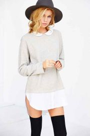 Cooperative Layered Collared Tunic Top at Urban Outfitters