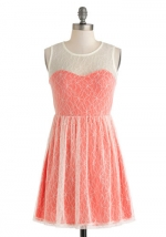 Coral Cocktails Dress at ModCloth