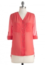 Coral shirt at Modcloth at Modcloth