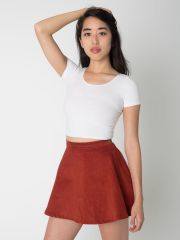 Corduroy Circle Skirt at American Apparel