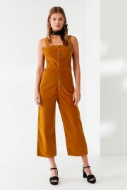 Corduroy Dungaree Jumpsuit at Urban Outfitters