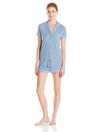 Cosabella Womenand39s Bella Pajama Printed Short-Sleeve Top and Boxer Set  Amazoncom at Amazon