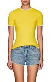 Cotton-Blend Short-Sleeve Sweater at Barneys