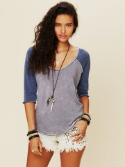 Cotton Candy Burnout Top at Free People