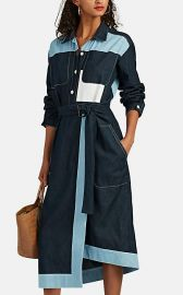 Cotton Chambray Belted Shirtdress at Barneys