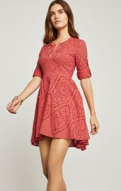 Cotton Eyelet Embroidery Dress at Bcbg