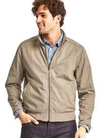 Cotton Harrington Jacket in Chino Academy at Gap