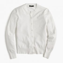 Cotton Jackie cardigan sweater in White at J. Crew