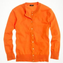 Cotton Jackie cardigan sweater in tangerine at J. Crew