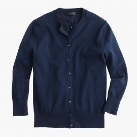 Cotton Jackie cardigan sweater in vintage indigo at J. Crew