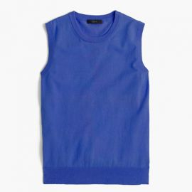 Cotton Jackie shell in Blue at J. Crew