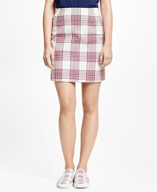 Cotton Large Plaid Skirt at Brooks Brothers