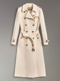 Cotton Linen Canvas Trench Coat at Burberry