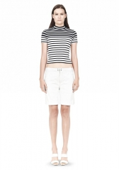 Cotton Rib Cropped Tee at Alexander Wang