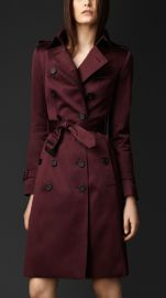 Cotton Sateen Trench Coat at Burberry