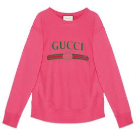 Cotton Sweatshirt with Gucci Logo by Gucci at Gucci