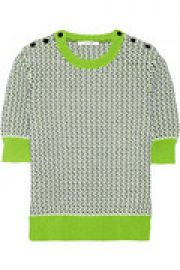 Cotton-blend knit sweater at The Outnet